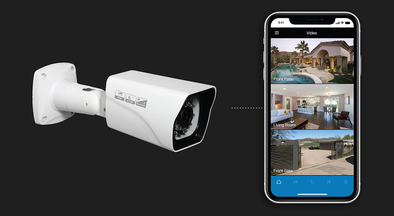 IP/Wi-Fi cameras can be added to existing alarm installations right now and be controlled in the same app